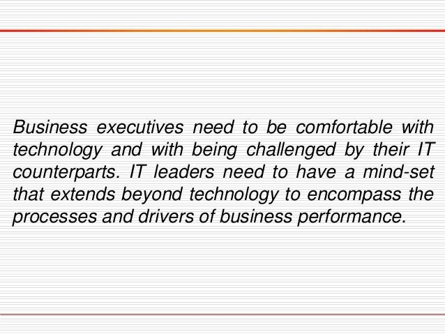 Building Technology Leadership Capabilities  One effective approach is to create a dual-speed IT structure, where one par...