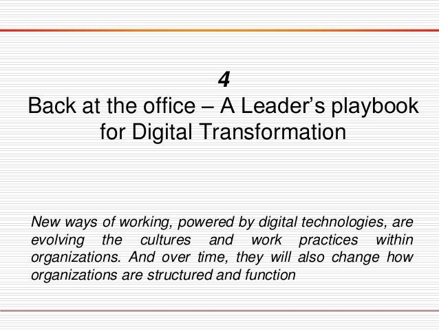 Framing the Digital Challenge Once digital and leadership capabilities are built, executives must encourage momentum aroun...