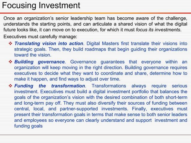 Digital Transformation Compass -Sustaining 12 Core Activities