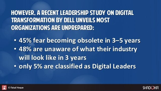 Digital transformation can be defined as a process whereby an organization shifts their business models, processes, and or...