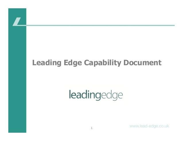 1 Leading Edge Capability Document