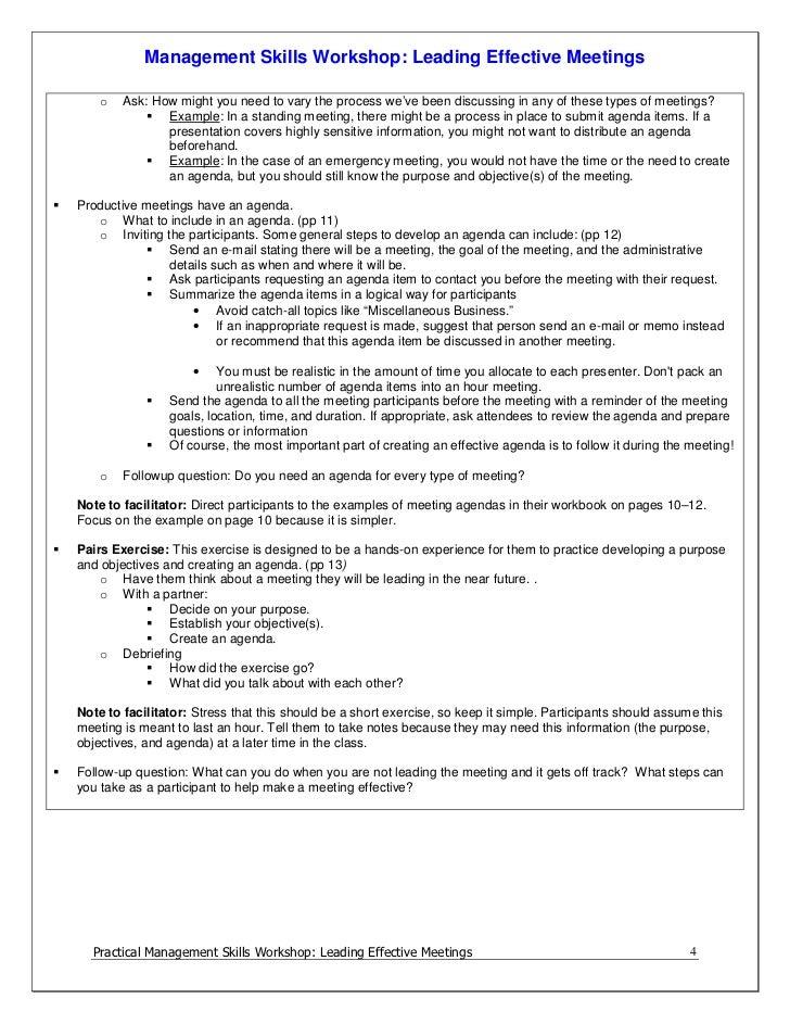 Leading Effective Meetings Facilitator Guide