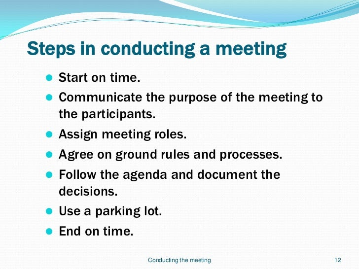 Effective Meetings Slides