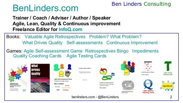 Leading for self organization - ABD 2020 - Ben Linders Slide 2