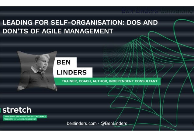 Ben Linders Consulting benlinders.com - @BenLinders 1