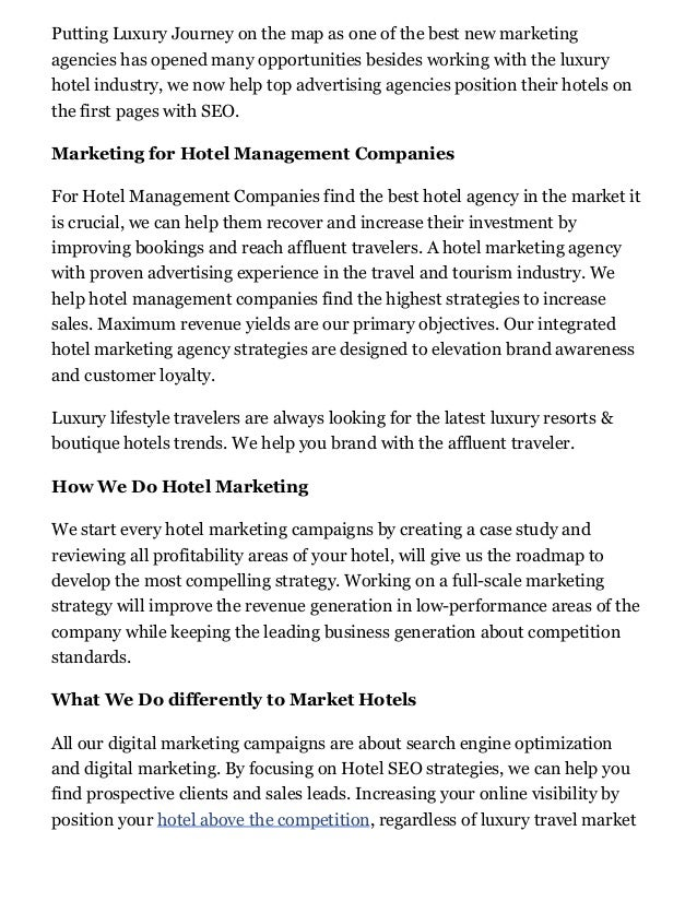 Marketing Agency, Hospitality and Hotel Digital Marketing Slide 2