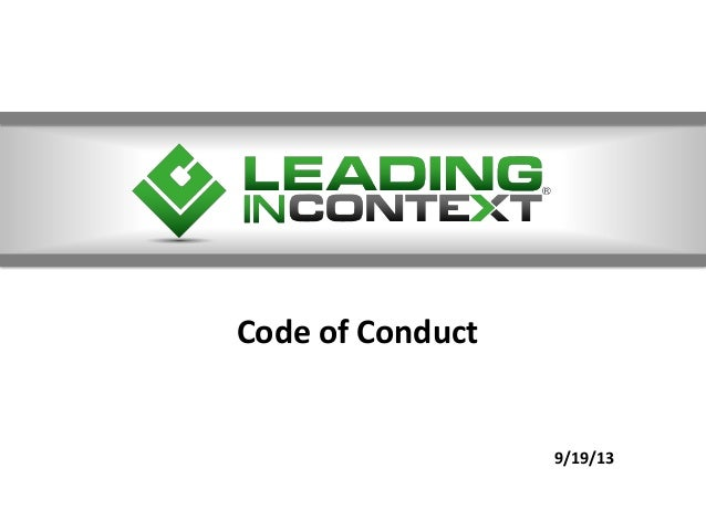 Code of Conduct 9/19/13