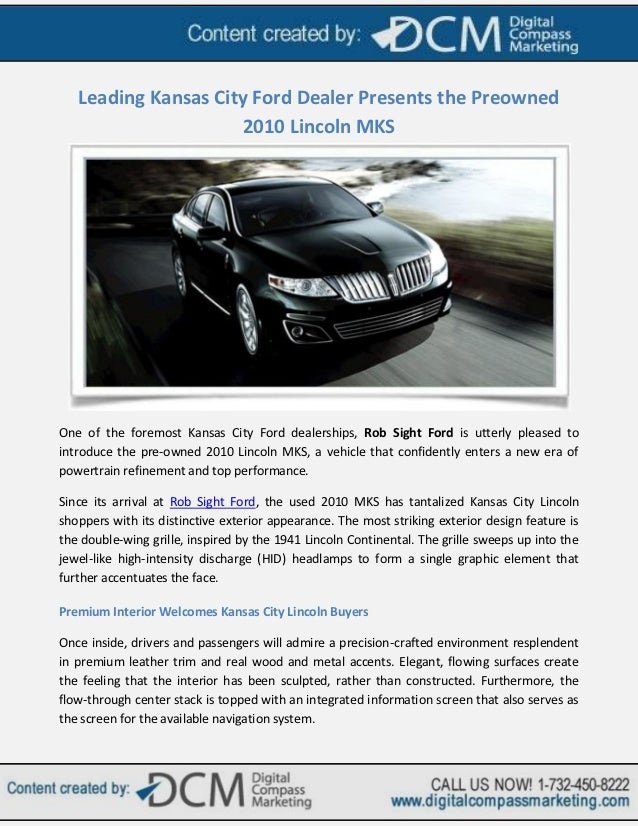 Ford Dealership Kansas City >> Leading Kansas City Ford Dealer Presents The Preowned 2010