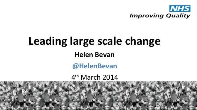 @HelenBevan #Expo14NHS Leading large scale change Helen Bevan @HelenBevan 4th March 2014