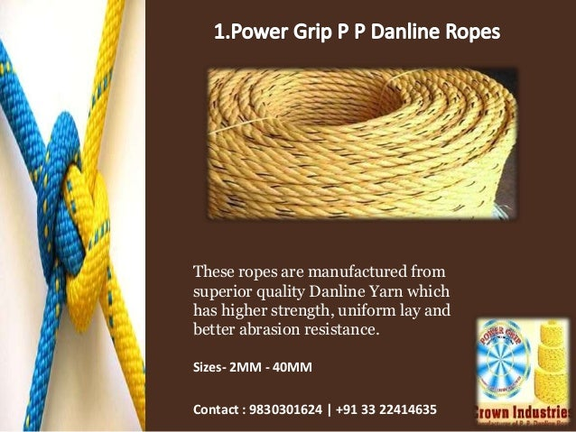 Leading manufacturer and supplier of polypropylene ropes at power gri…