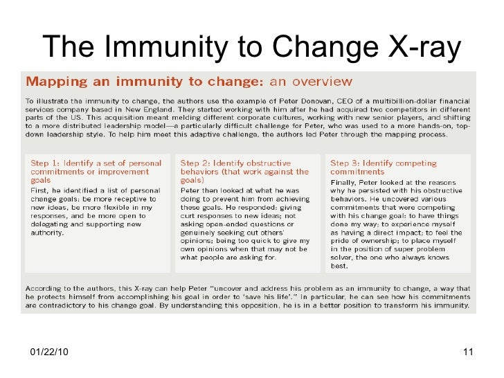 how to overcome immunity to change