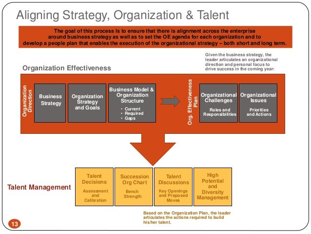 Talent planning within an organisation