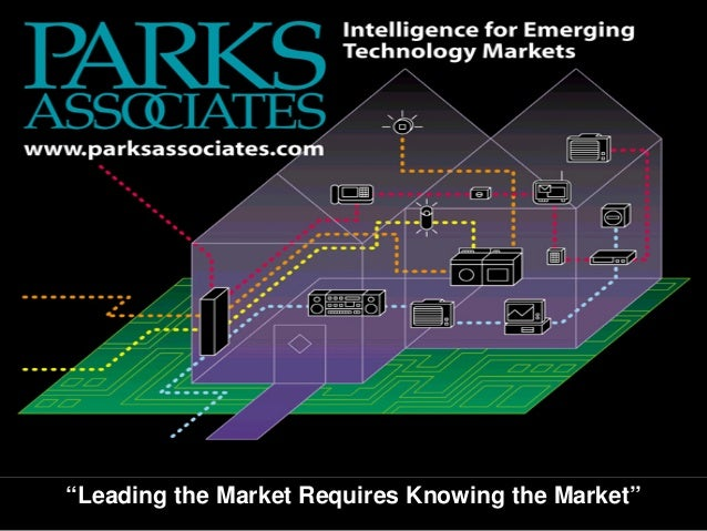 """OSGi World Congress © 2003 Parks Associates """"Leading the Market Requires Knowing the Market"""""""
