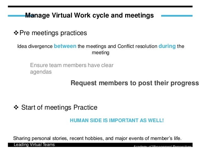 the virtual team leadership management essay Personal philosophy of organizational leadership participatory  virtual team  management what would sample excerpt: therefore, to keep these.