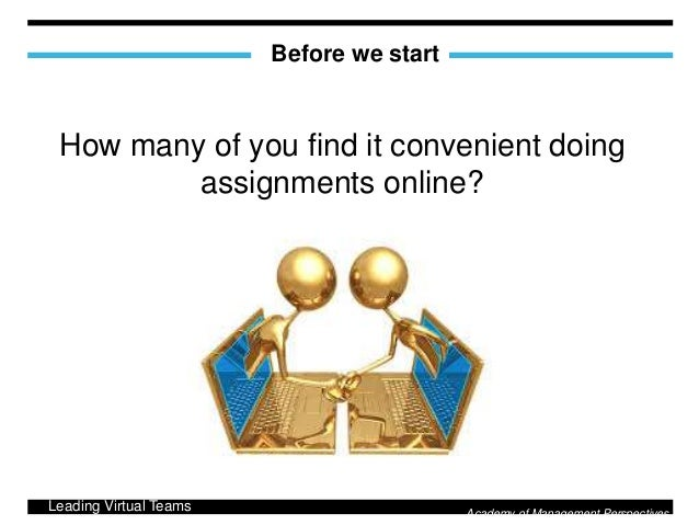 Doing assignment online