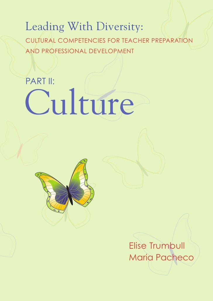 Leading With Diversity:CULTURAL COMPETENCIES FOR TEACHER PREPARATIONAND PROFESSIONAL DEVELOPMENTPART II:Culture           ...