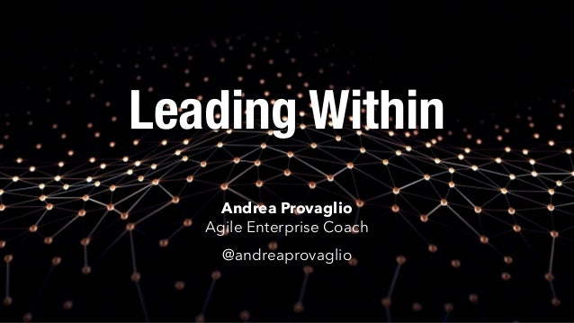 Leading Within Andrea Provaglio Agile Enterprise Coach