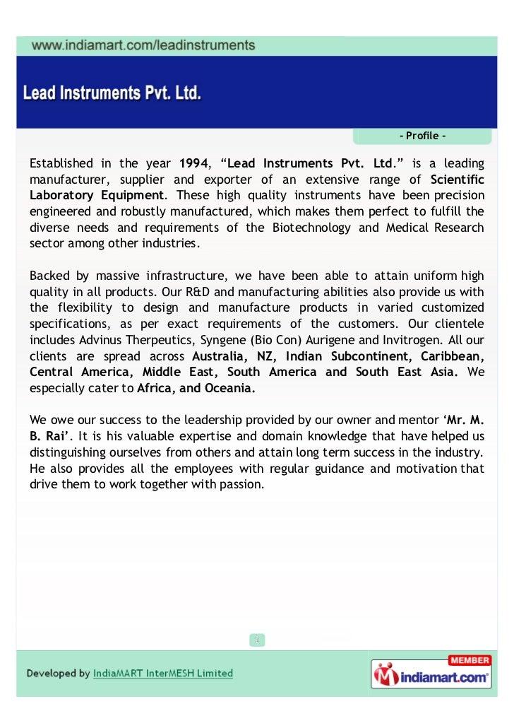 Lead Instruments Private Limited, Bengaluru, Vortex Mixer Slide 2