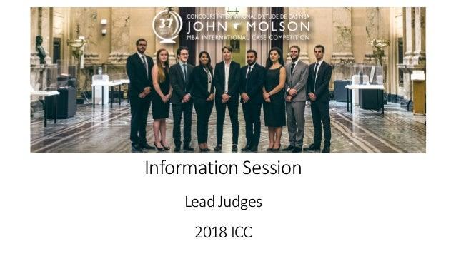 InformationSession LeadJudges 2018ICC