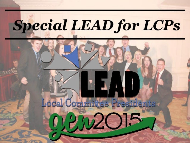 Special LEAD for LCPs