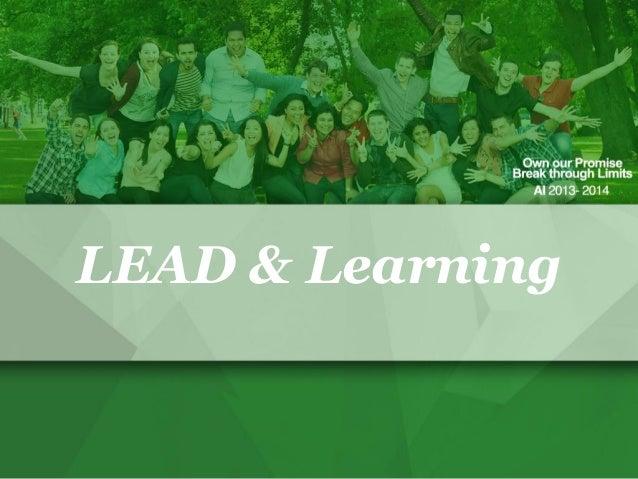LEAD & Learning