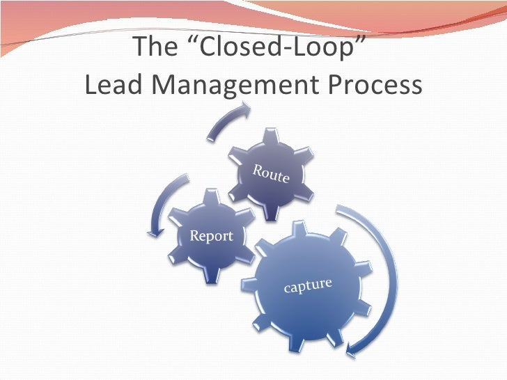 """The """"Closed-Loop""""  Lead Management Process"""