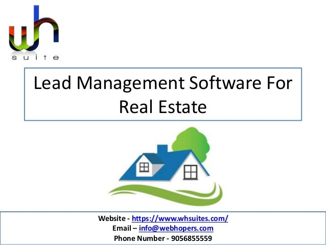 Lead Management Software For Real Estate Website - https://www.whsuites.com/ Email – info@webhopers.com Phone Number - 905...