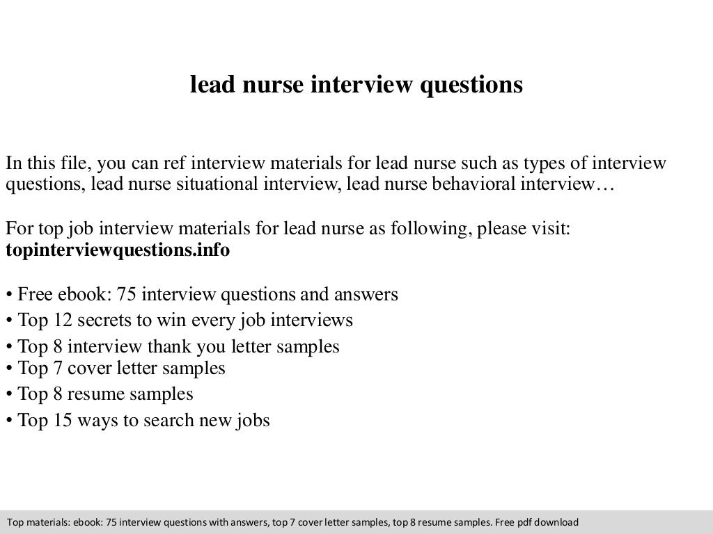 nursing situational interview questions and answers 75 interview ...