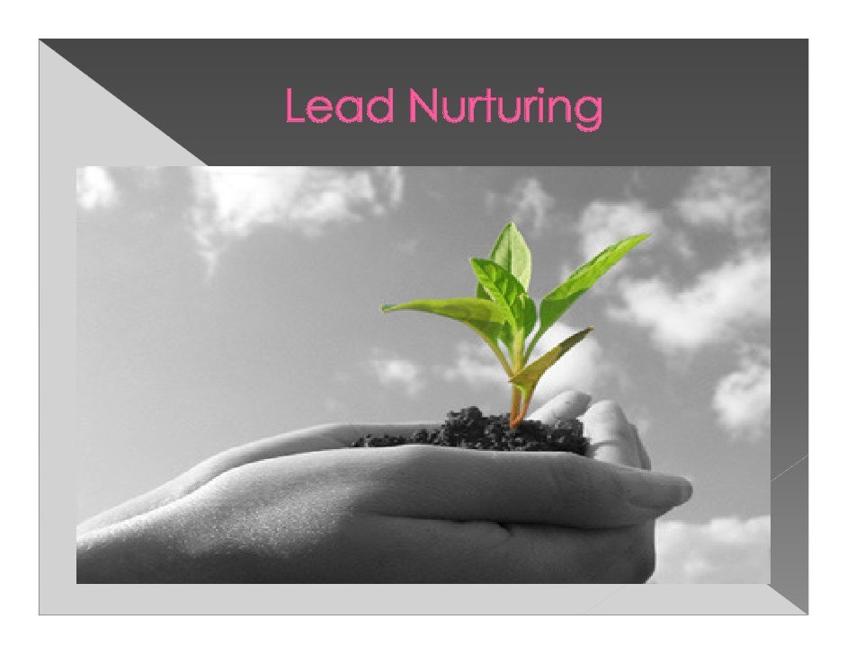 Lead nurturing is all about having consistentand meaningful dialog with viable prospectsregardless of their timing to buy....