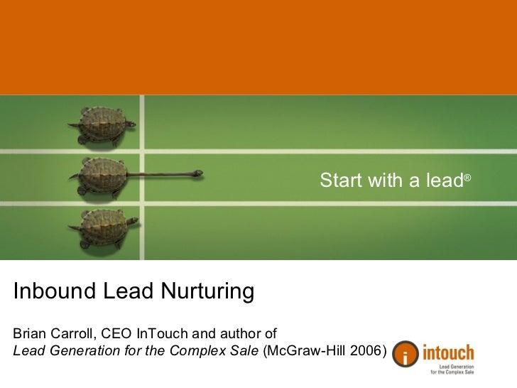 #8 IMU: Inbound Lead Nurturing (CV201) Slide 2