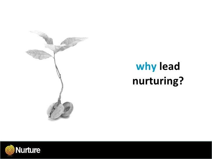 why  lead nurturing?
