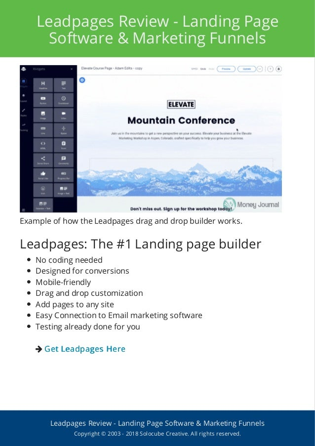 Top Guidelines Of Leadpages Software