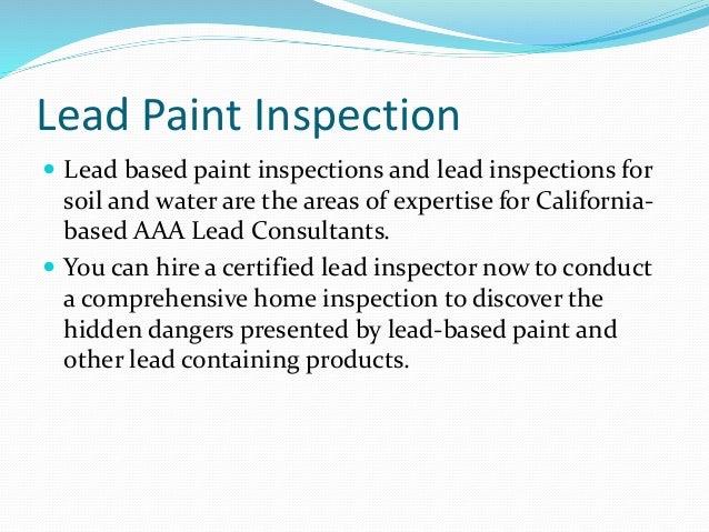 Lead Paint Inspection Company