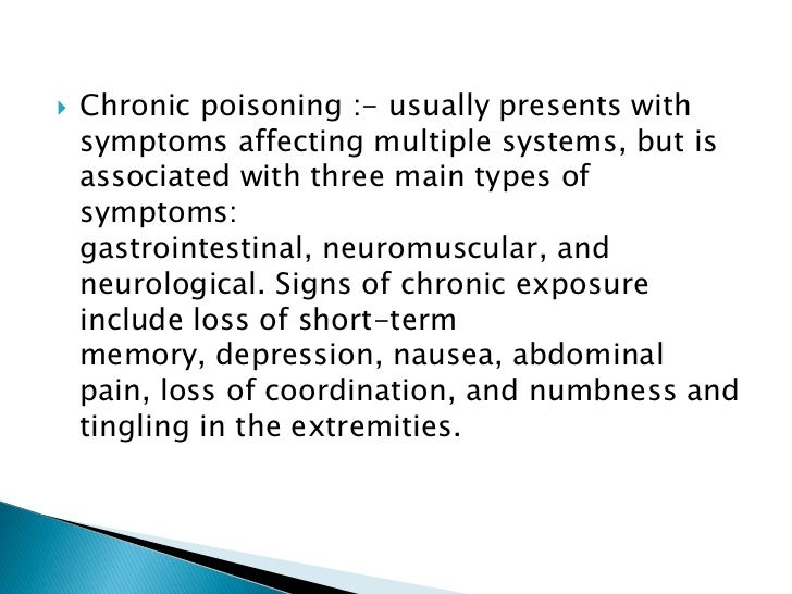 lead poisoning symptoms in adults