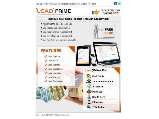 LeadPrime lead management for various business domains