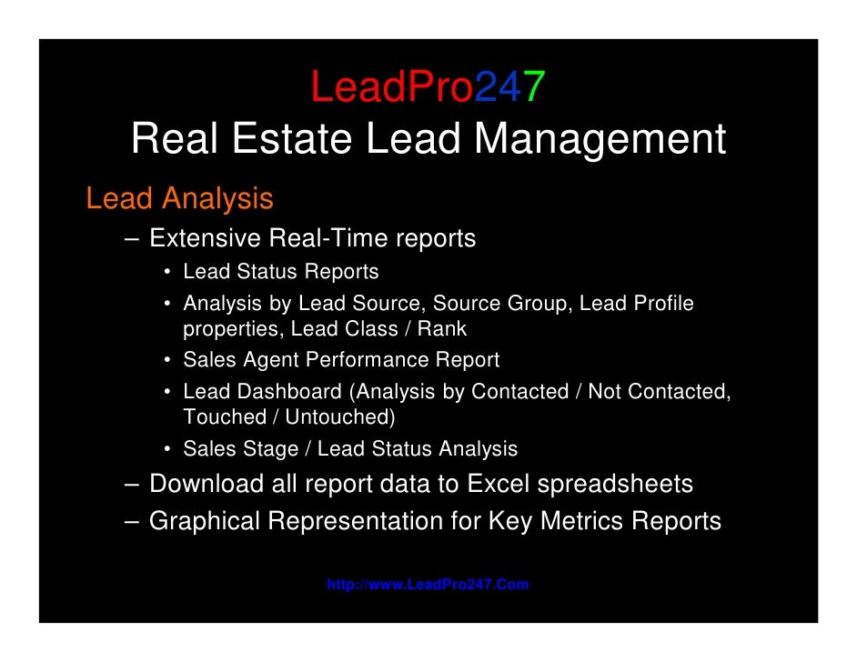 real estate lead distribution and tracking software