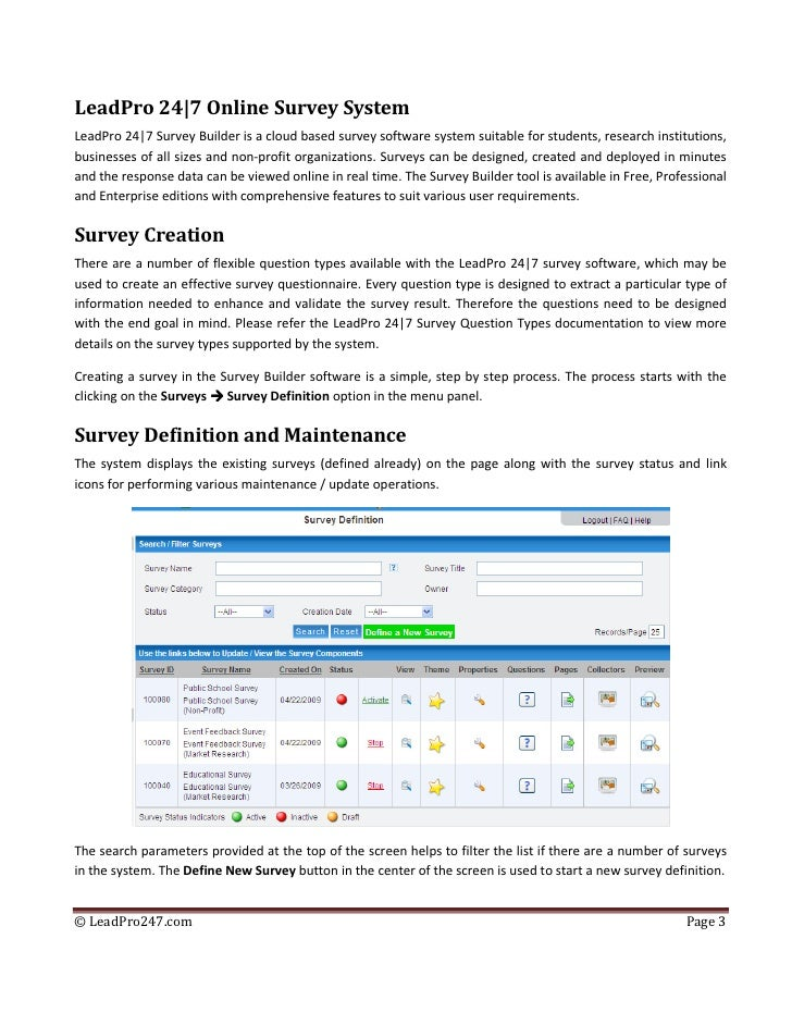 web surveys design and creation with survey builder