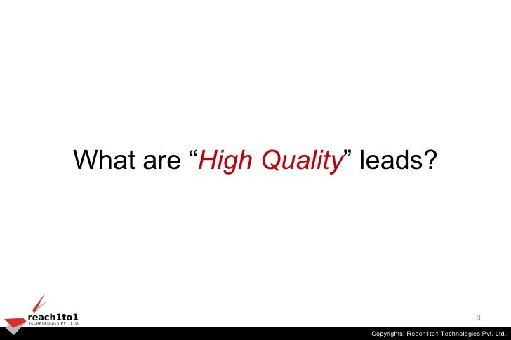 Lead qualification - resolving the sales and marketing conflict Slide 3