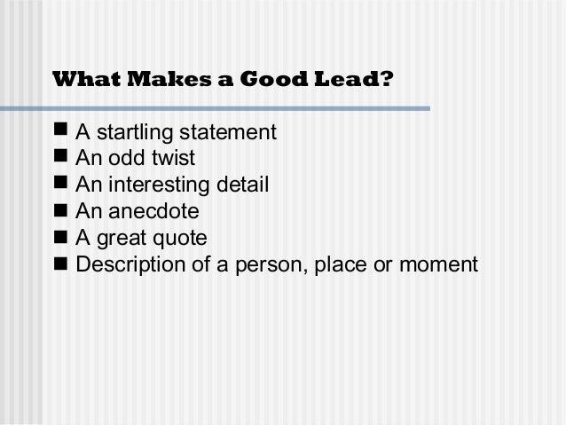 Good Leads Slide 2