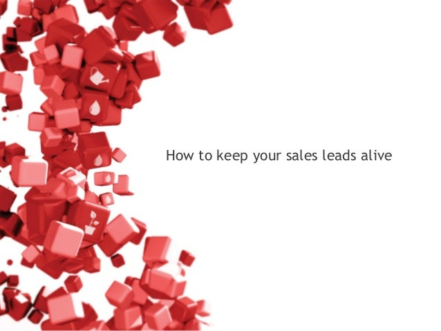 How to keep your sales leads alive