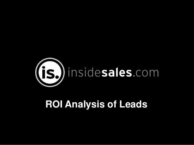 ROI Analysis of Leads