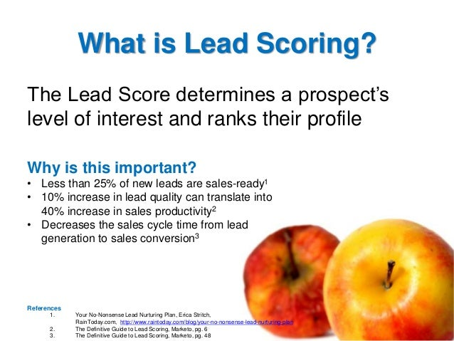 What is Lead Scoring? The Lead Score determines a prospect's level of interest and ranks their profile Why is this importa...