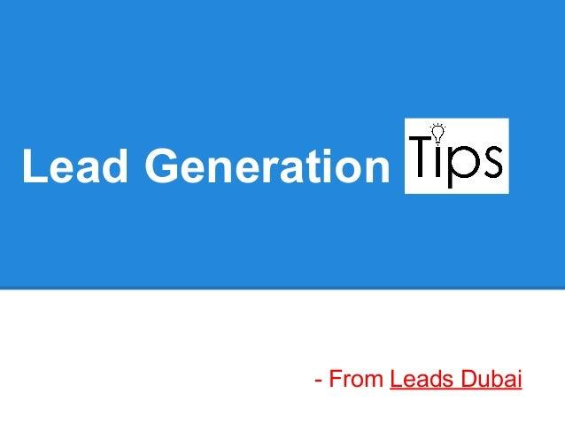 Lead Generation- From Leads Dubai