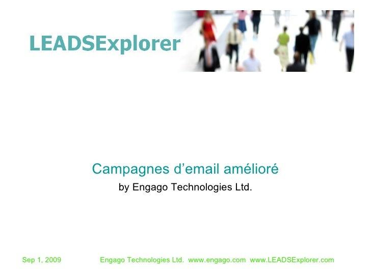 by Engago Technologies Ltd. Campagnes d'email amélioré