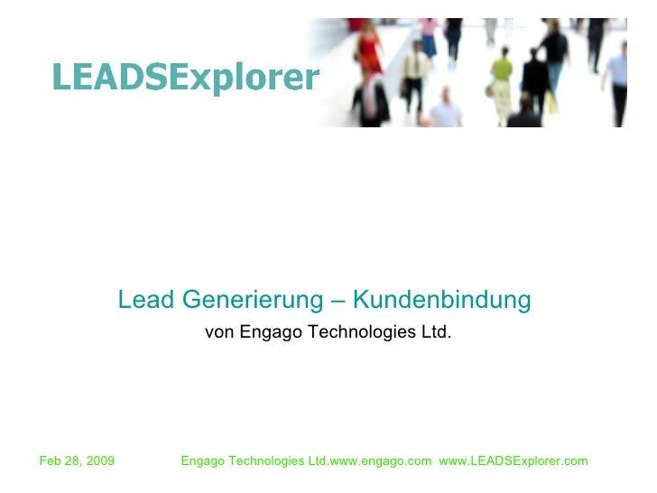 von Engago Technologies Ltd. Lead Generierung – Kundenbindung