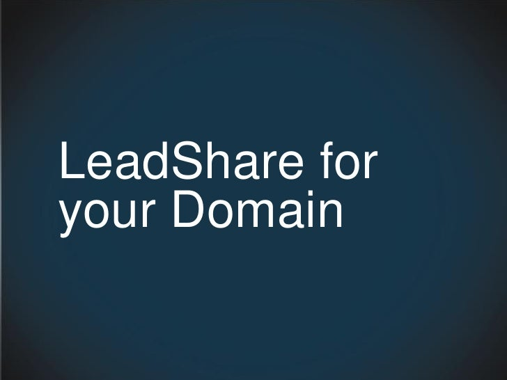 LeadShare for your Domain