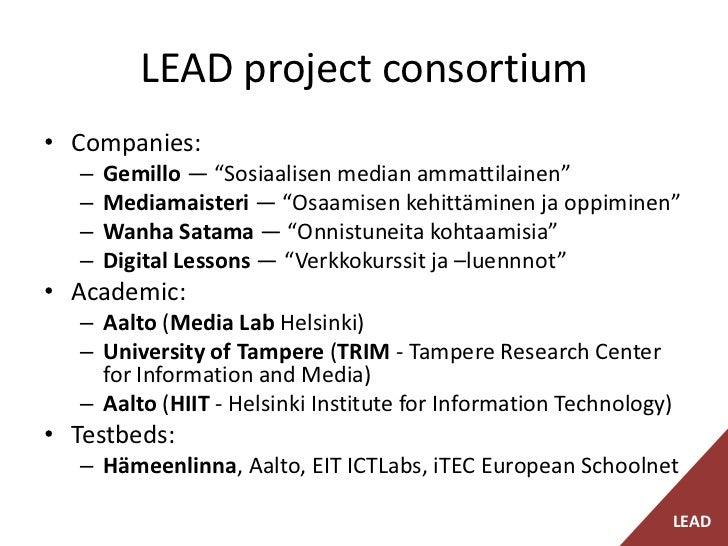 LEAD - Learning Design – Design For Learning -project presentation Slide 3