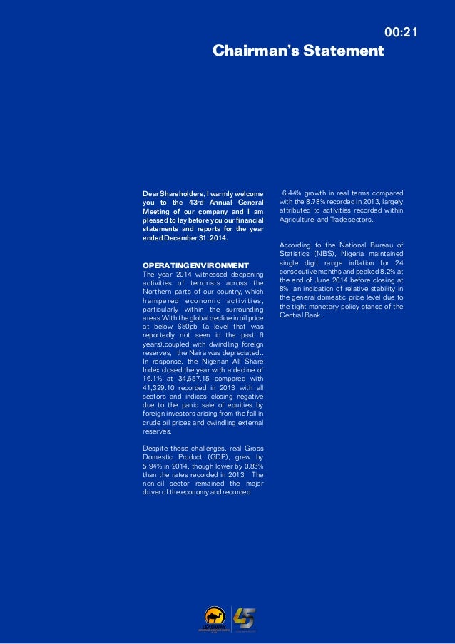 Leadway Assurance annual report 2014