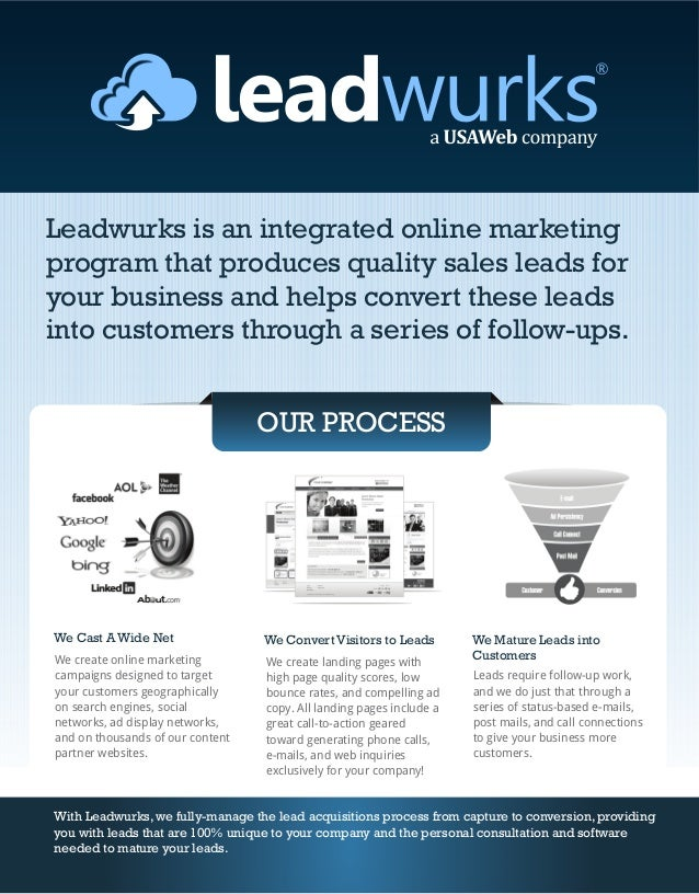 Leadwurks is an integrated online marketingprogram that produces quality sales leads foryour business and helps convert th...