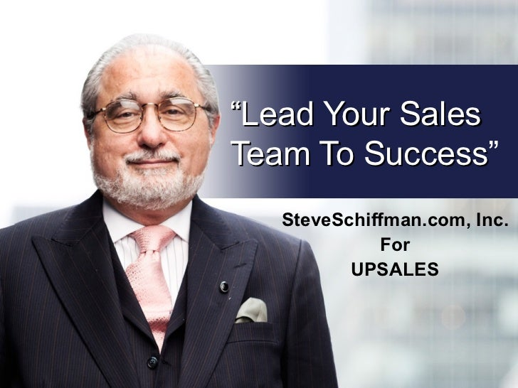Lead Your Sales Team To Success